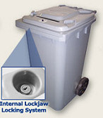 Locking Security Bin